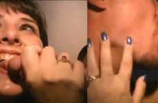 Gloryhole swallow, ejaculation faciale et baiser cuckold - Glory Hole